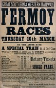 Irish Horse Racing Railway Poster From The Fermoy Races,  Ireland